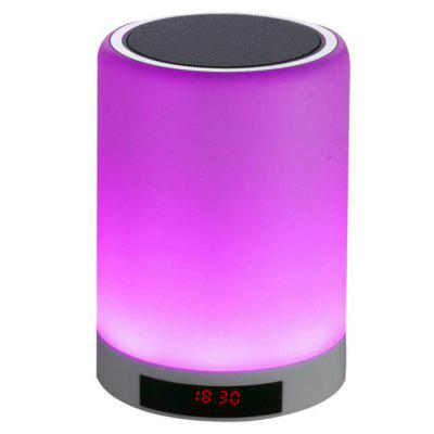 Moda Bluetooth altavoz inalámbrico LED al aire libre mini reloj despertador luces de colores
