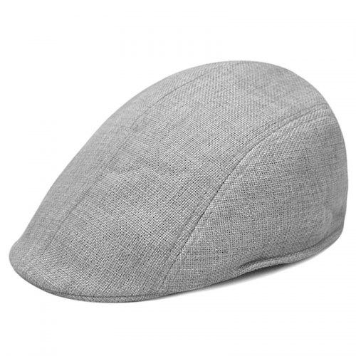 a7c6fc01aaaaf Linen breathable beret + size code for 56-58CM head circumference - $9.53  Free Shipping GearBest.com