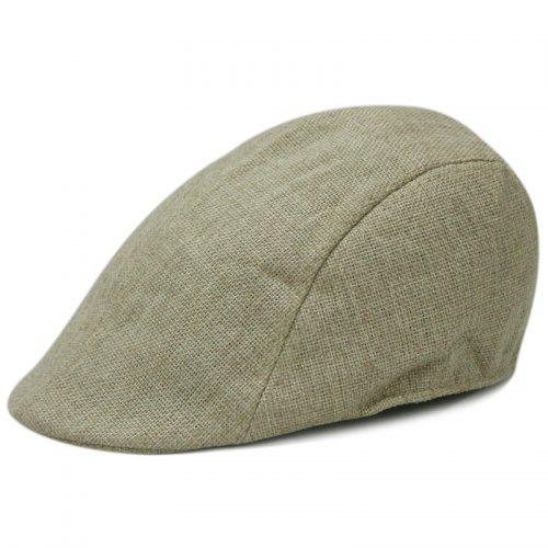 20a5f70c921d5 Linen breathable beret + size code for 56-58CM head circumference   Gearbest