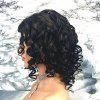 Short Big Curly Natural Black Color Human Hair Lace Front Wig for Ladies - NATURAL BLACK