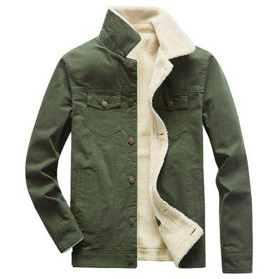 Men Outdoor Jacket Long-Sleeved Cotton Jacket