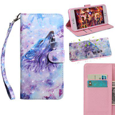 Luxury 3D Painted Flip Wallet Case for Iphone 5 / 5S / SE Leather Phone Case