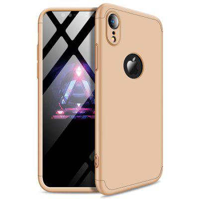 Schokbestendige ultradunne Full Body Cover Solid Hard voor iPhone XR