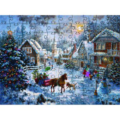 3D Jigsaw Paper Puzzle Snow Block Assembly Birthday Toy