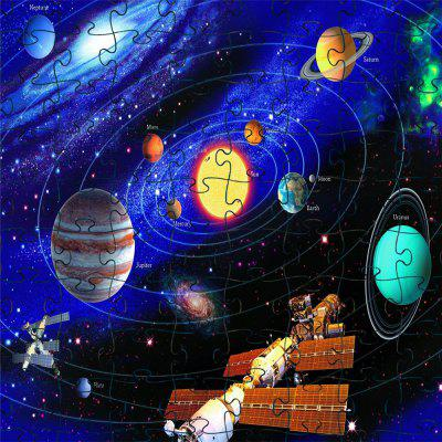 3D Jigsaw Paper Beautiful Planet Puzzle Bloque Asamblea Cumpleaños Juguete