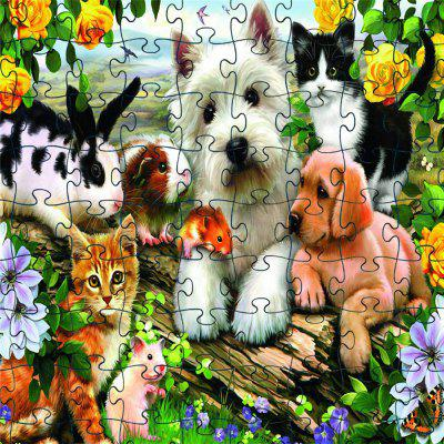 3D Jigsaw Paper Lovely Dog  Puzzle Block Assembly Birthday Toy