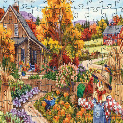 3D Jigsaw Paper Autumn Puzzle Block Assembly Birthday Toy