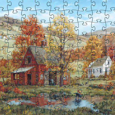 3D Jigsaw Paper Country House Puzzle Block Assembly Birthday Toy