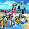3D Jigsaw Paper Piękny Cute Dogs Puzzle Block Assembly Birthday Toy - WIELO