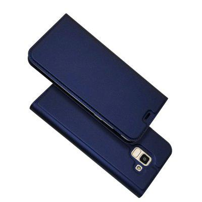 Card Holder Magnetic Full Body Solid PU Leather Case for Samsung J6 2018
