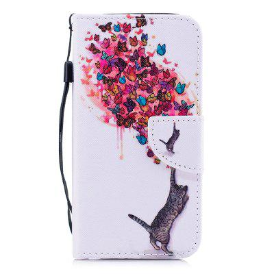 Цветная картинка Flip Coverlet Cover для Samsung Galaxy A5 2017 A520 Phone Case