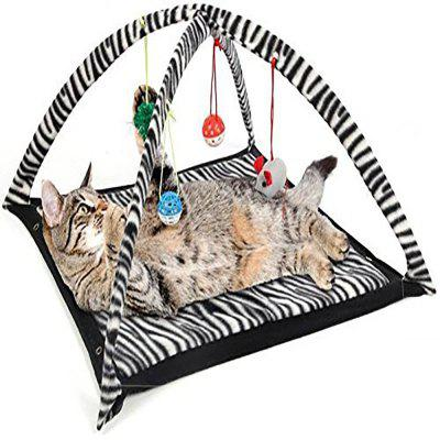 Print Pet Cat Tent Toy Cat Bed Toy Cat Bed Amusement Park Folding Multi-Pu