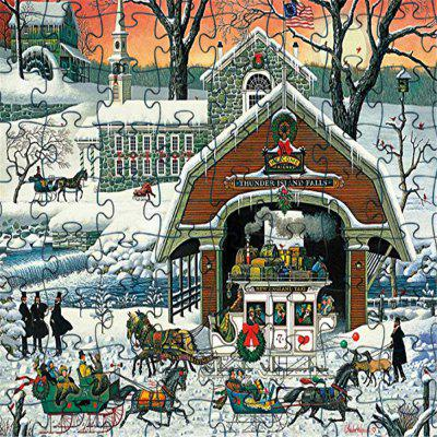 3D Jigsaw Paper Snow View Puzzle Block Assembly Birthday Toy