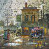 3D Jigsaw Paper Old Street Puzzle Block Assembly Birthday Toy - Многоцветный