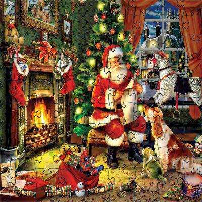 3D Jigsaw Paper Santa Claus Puzzle Block Assembly Birthday Toy