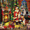 3D Jigsaw Paper Santa Claus Puzzle Block Assembly Birthday Toy - MULTI
