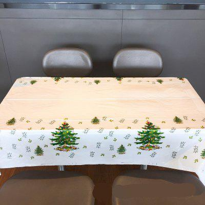 New Christmas Decorations Cartoon PVC Tablecloth Decorations