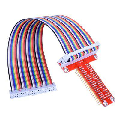 RPi GPIO Breakout Expansion Board + 20cm 40pin Flat Ribbon Cable for Raspberry