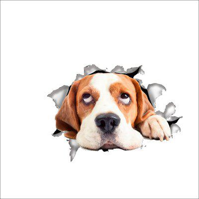 3D Decals Stickers Dog Removable Art Bathroom