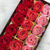 Roses Heart Valentine'S Day Christmas Gift Soap Artificial Flower with Box - MULTI