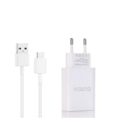 QC 3.0 Power Adapter Quick Charger +Type-C Cable for Xiaomi mi 8 / MIX 3 / 6 PRO