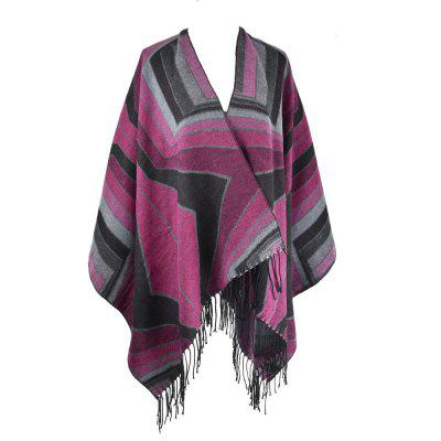 Both Side Colorful Women Winter Thick Soft Shawl Scarf