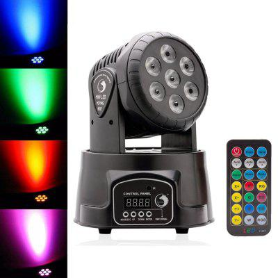 UKing 7X10W RGBW 7 LEDs Moving Head Stage Effect Light for Disco KTV Party Show
