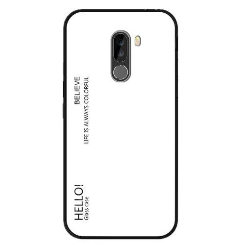 uk availability 8987b f26a9 Gradient Color Tempered Glass Phone Case Protective Cover for Xiaomi  Pocophone F1