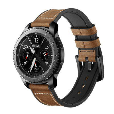For Samsung Galaxy Watch 46MM Silicone Leather Replacement Wrist Strap