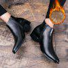 Genuine Leather Men Zip Business Shoes Black British Fashion Ankle Boots - BLACK