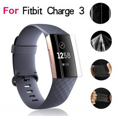 5pcs Clear Screen Protector Protective Film Guard for Fitbit Charge 3 Smartwatch