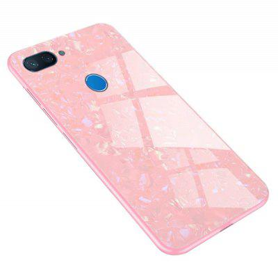 TPU Edge Hard Toughened Glass Protective Back Cover Case for Xiaomi Mi 8 Lite