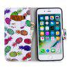 Color Painting Flip Wallet Cover for iPhone 7 Plus / 8 Plus Phone Case - MULTI-B