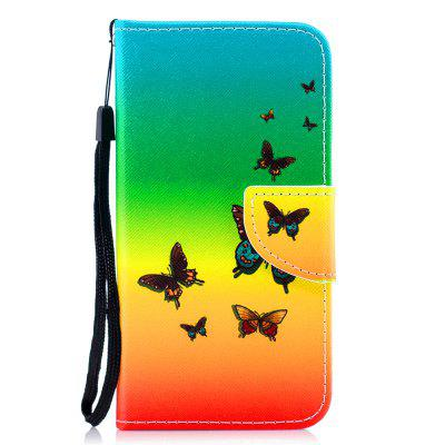Color Painting Flip Wallet Cover voor iPhone X / XS telefoonhoes