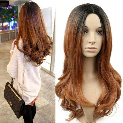 The New Wig Cross-Border Harajuku Dark Brown Curly Hair in The Gradient Points B