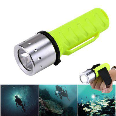 ZHISHUNJIA YH8451 T6 Waterproof 1000LM 3-Mode LED Diving Flashlight - Green