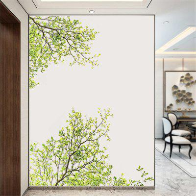 Green Tree Branch Wall Sticker Removable Home Decorations