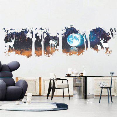 Moon Elk pădure Moonlight Wall Removable Home Decorations