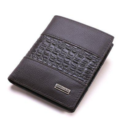 Fashion Business and Leisure Man Leather Wallet Wallet Brief Paragraph
