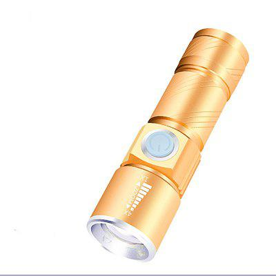 LED Flashlight Portable Mini ZOOM Battery Waterproof in Life Lighting Lantern