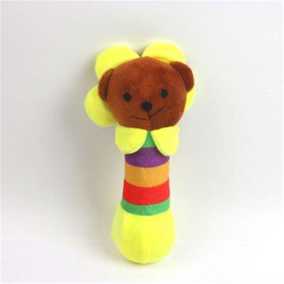 Pet Plush Vocal Sun Flower Bear Three Medium-Sized Toys