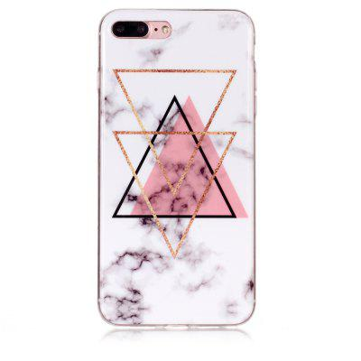 Inverted Triangle Powder Marble for iPhone 7 Plus/8 Plus