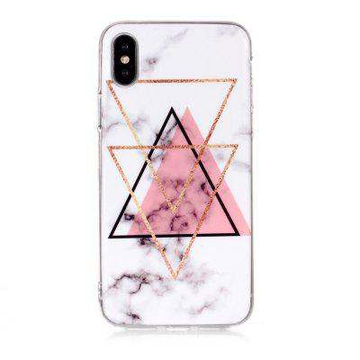 Inverted Triangle Powder Marble for iPhone X/XS