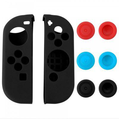 Custodia in silicone con 6pcs Thumb Stick Caps per Nintendo Switch Controller