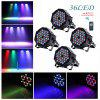 UKing 4 SETS of RGB 36 LEDs Par Stage Effect Lights with 1 Remote Controller - BLACK