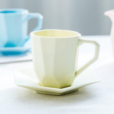 Colored Ceramic Coffee Cup and Dish Set Tea Cup Set