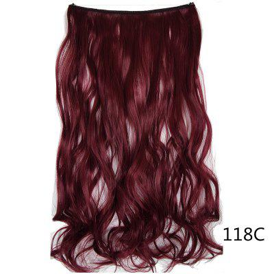 Long Wave Hair Extension Without Clip Fish Line Synthetic Wig