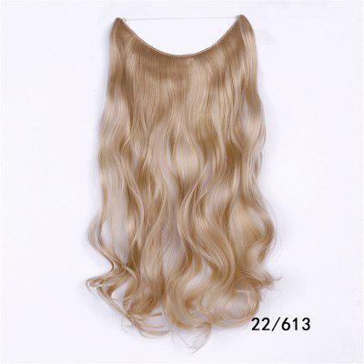 Long Wave Hair Extension Without Clip Fish Line Color Mixing Synthetic Wig