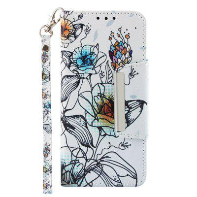 PU Leather Material Painted Mobile Phone Case for Samsung Galaxy J6 2018