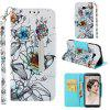 PU Leather Material Painted Mobile Phone Case for Samsung Galaxy J4 Plus - MULTI-C